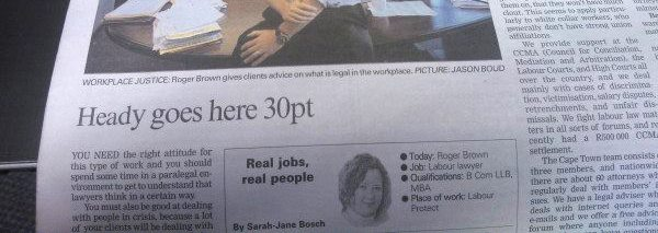 Filler text that made it into a published newspaper