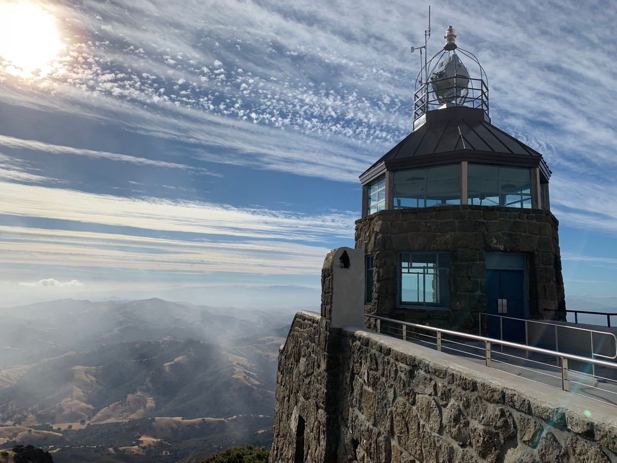 Beacon and observation deck at the summit of Mt. Diablo