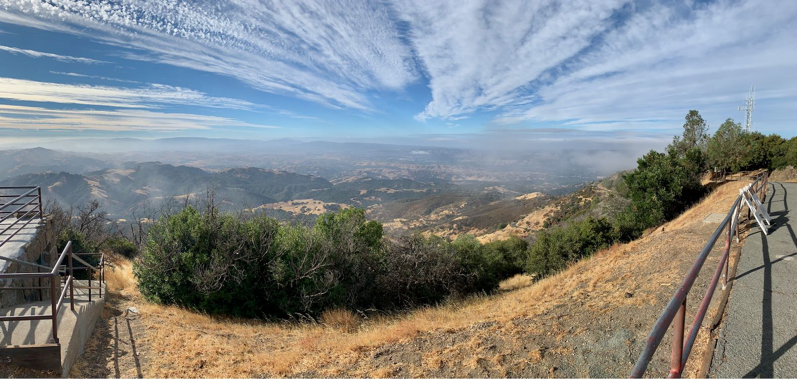The southern view from Mt. Diablo.