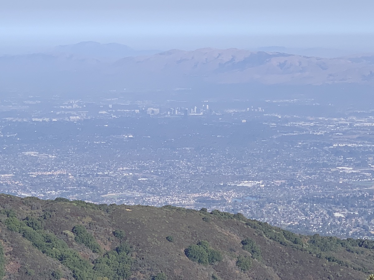 San Jose, as seen from the summit.