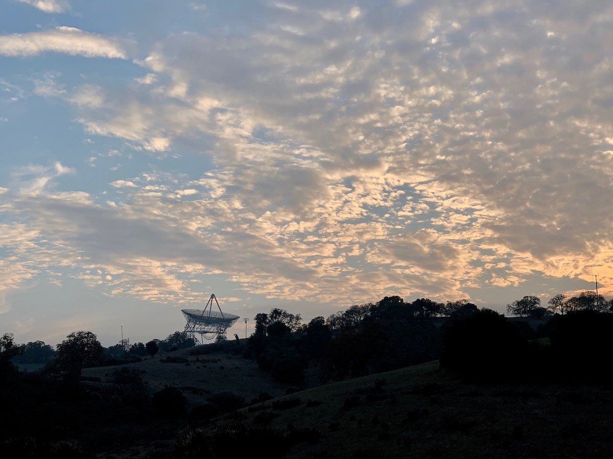 The Dish at sunset