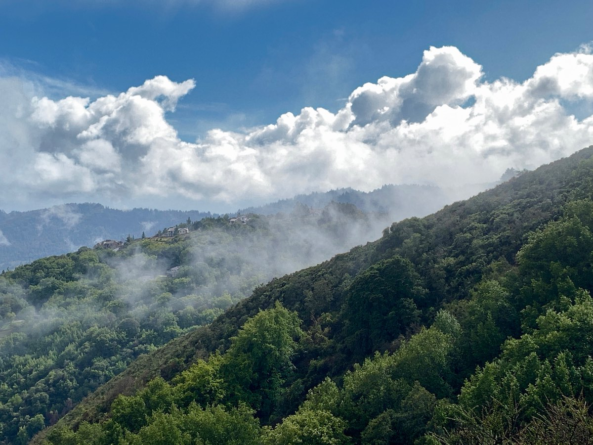 Hills and clouds at El Sereno OSP