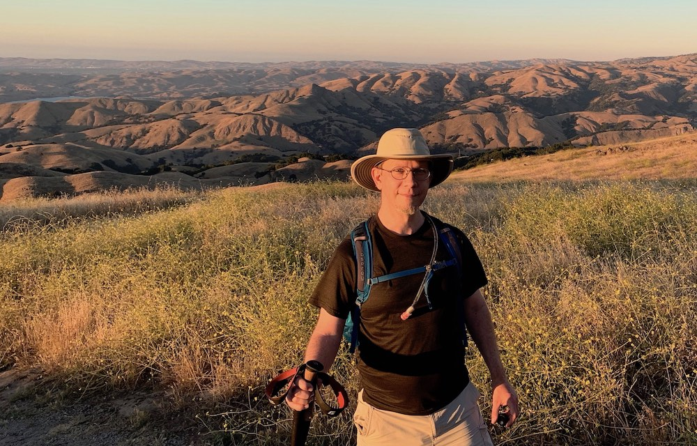 Ben Gremillion on a sunset hike in California