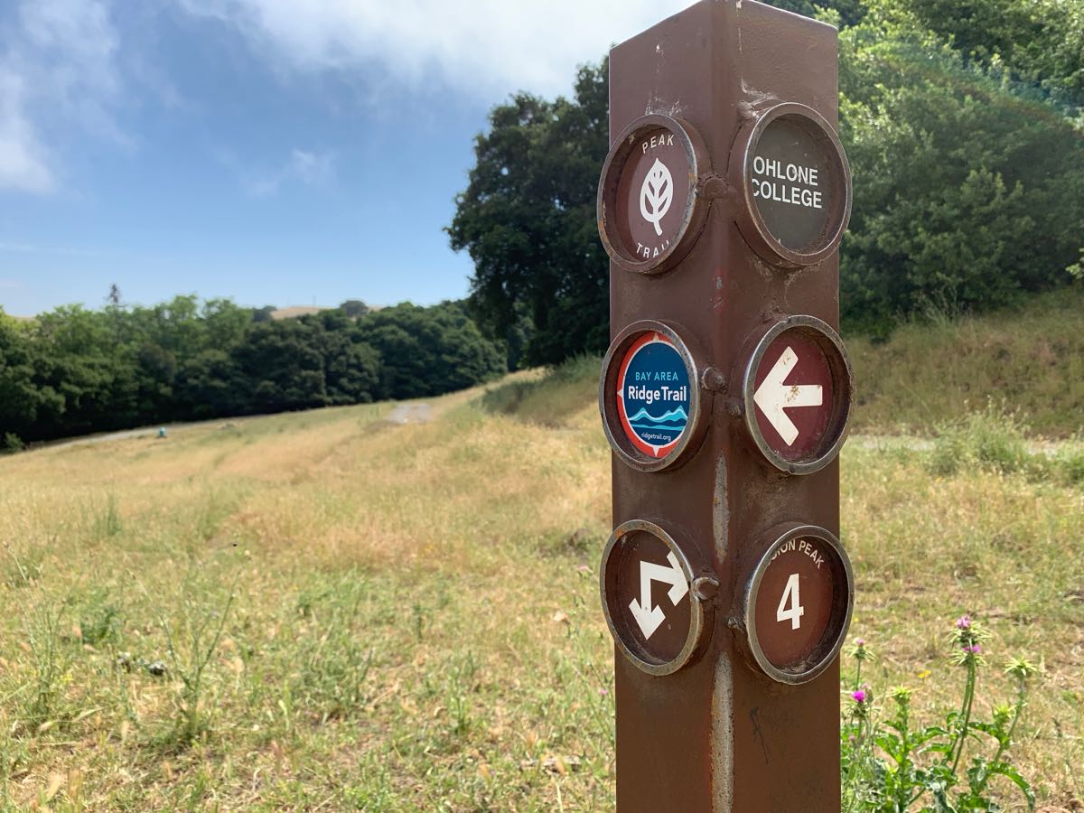 Sign with Bay Area Ridge Trail