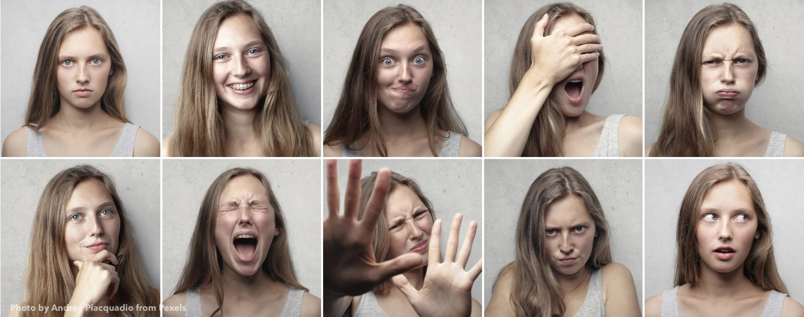 Faces with varied emotions
