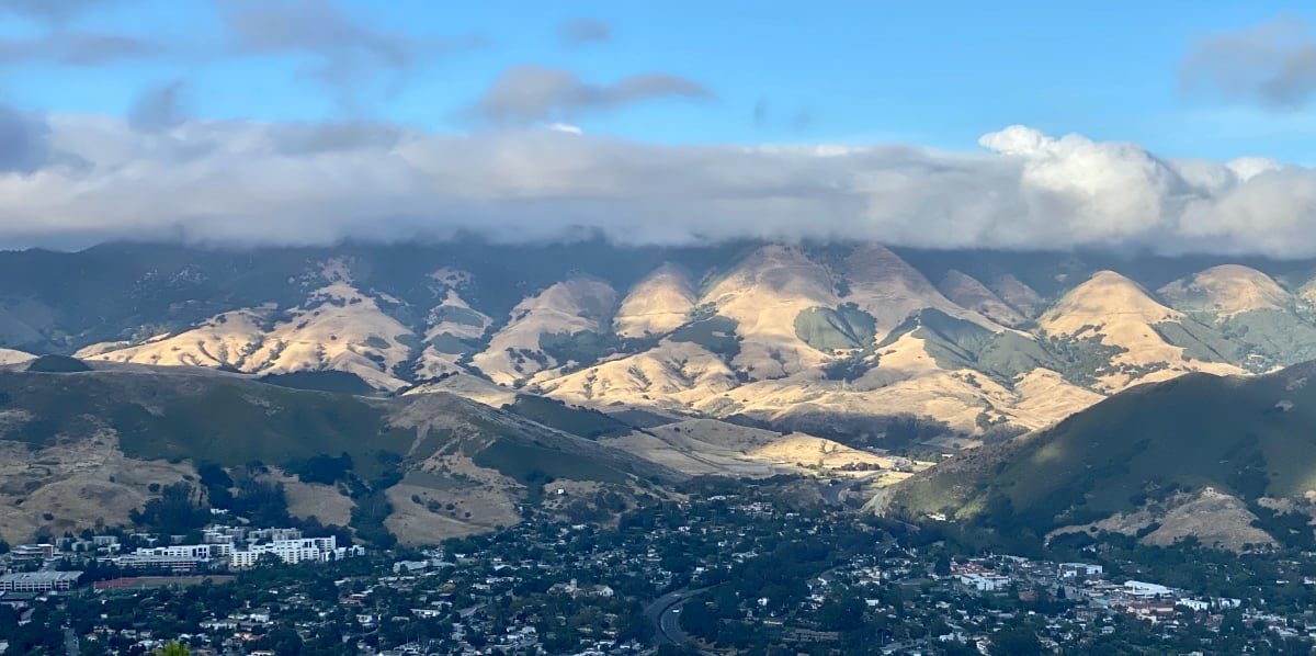 View of a ridge north of San Luis Obispo and Cal Poly